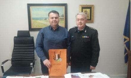 Εθιμοτυπική επίσκεψη του νέου Διοικητή της Πυροσβεστικής Υπηρεσίας Ν. Ξάνθης στον Δήμαρχο Αβδήρων