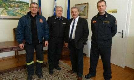 Ο νέος Διοικητής Πυροσβεστικών Υπηρεσιών Ν. Ξάνθης στο Δήμαρχο Ξάνθης