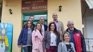 Ο Σάββας Μελισσόπουλος και μέλη της Κίνησης «ΞΑΝΘΗ για ΌΛΟΥΣ» στο Γηροκομείο της Ξάνθης