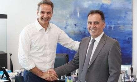 Συνάντηση του Υποψηφίου Βουλευτή Σπύρου Τσιλιγγίρη με τον Αρχηγό της ΝΔ Κυριάκο Μητσοτάκη <br> <span style='color:#777;font-size:16px;'>στα πλαίσια παρουσίασης του προγράμματος του κόμματος στην Αθήνα</span>