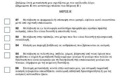 Τα έγγραφα για την κυκλοφορία των πολιτών και εργαζομένων (δείτε τα στο τέλος του κειμενου)