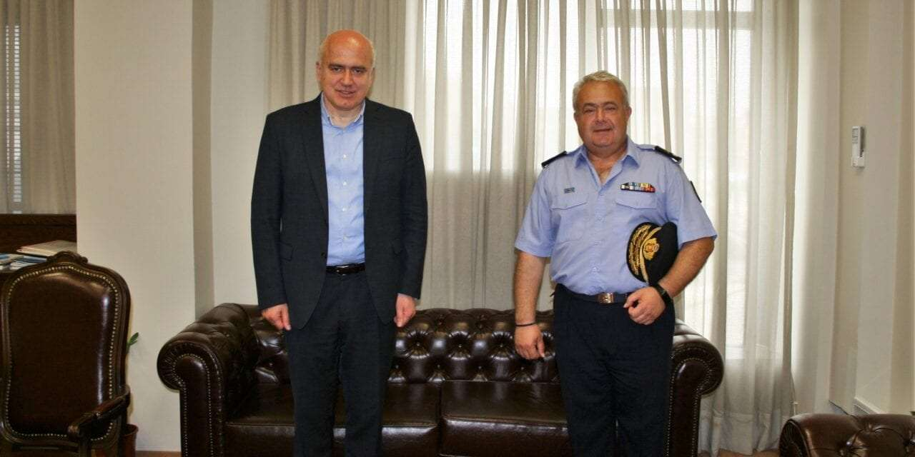 Επίσκεψη στον Περιφερειάρχη ΑΜΘ του νέου Διοικητή της Περιφερειακής Πυροσβεστικής Διοίκησης ΑΜΘ
