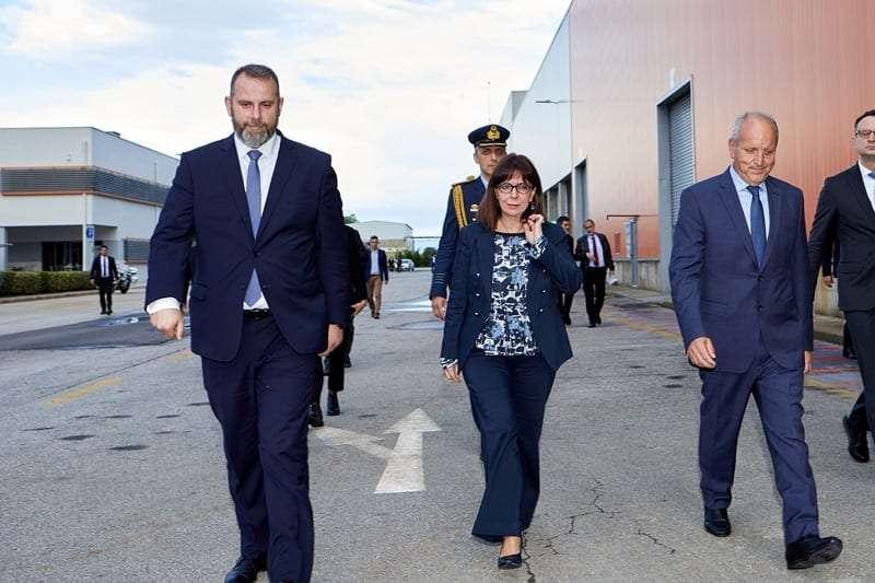 Επίσκεψη της Προέδρου της Δημοκρατίας στη μονάδα ανακύκλωσης μπαταριών της SUNLIGHT στην Κομοτηνή <br> <span style='color:#777;font-size:16px;'>Στο πλαίσιο της τριήμερης επίσκεψης της στη Θράκη</span>